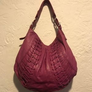 Andre Marc Magenta Leather Hobo